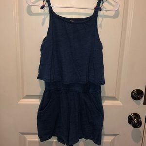 Soft knit blue Cherokee romper